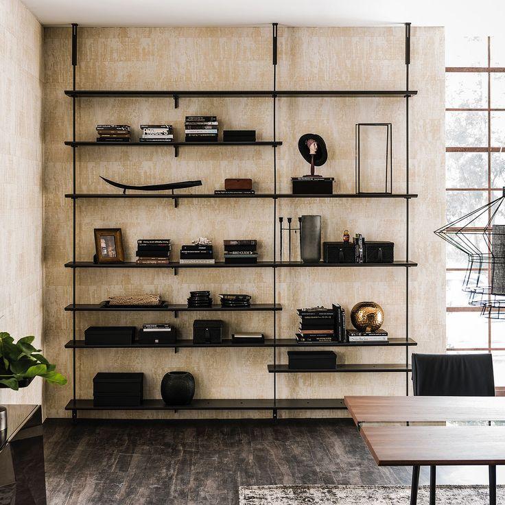 Salotto Con Parquet E Libreria A Muro Interior Design : Migliori idee su design libreria di casa pinterest