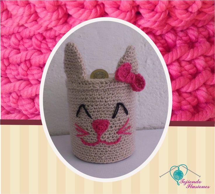 Modelo Nº :Alcancía Gatita, Tejida a crochet #crochet  #tejido #alcancía #cat