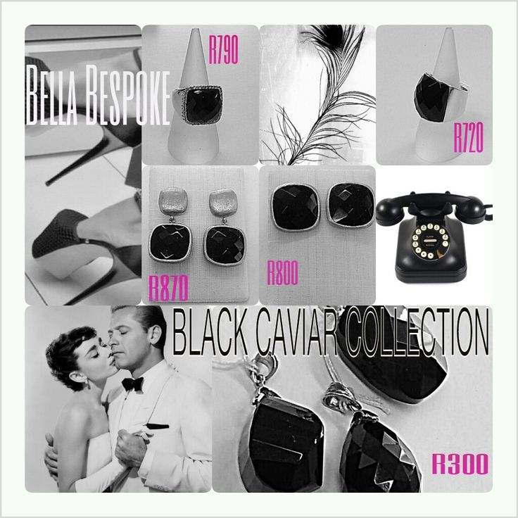 Black Caviar #jewellery #onyx #classic #black #silver