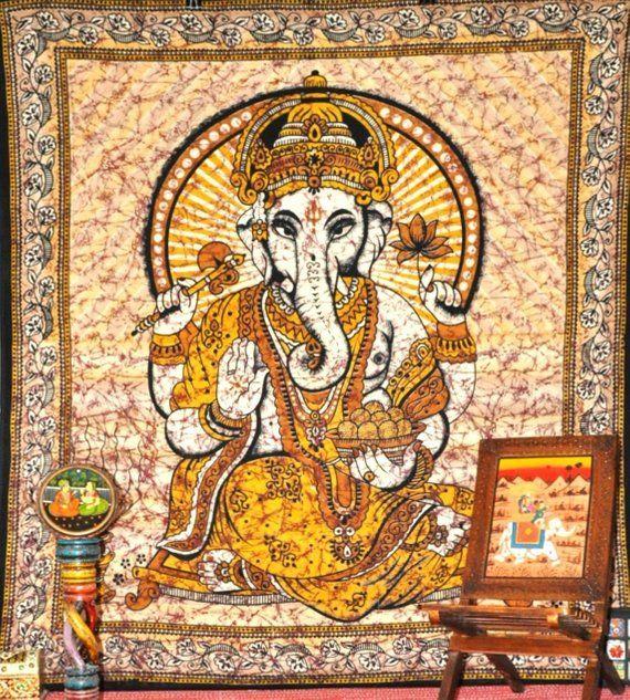 Hindu Lord Ganesha Tapestry Indian God Ganesha Wall Hanging Hindu Tapestsries Ganeshatapestry Tap Wall Tapestries Dorm Bohemian Wall Tapestry Hippie Tapestry