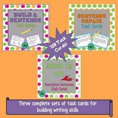 Practice sentence writing skills with this bundle containing a total of 120 task cards with a focus on descriptive sentences, structure, and…