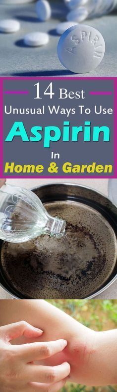 Have a look at these 14 unusual ways to use Aspirin tablets in your home and garden. From skin care to your day to day chores, these Aspirin Uses are really effective!