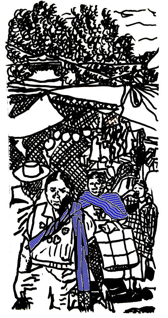 Mujeres de Tlacolula con tocados y rebozos (9)