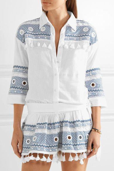 Dodo Bar Or   Embellished embroidered cotton-gauze playsuit   NET-A-PORTER.COM