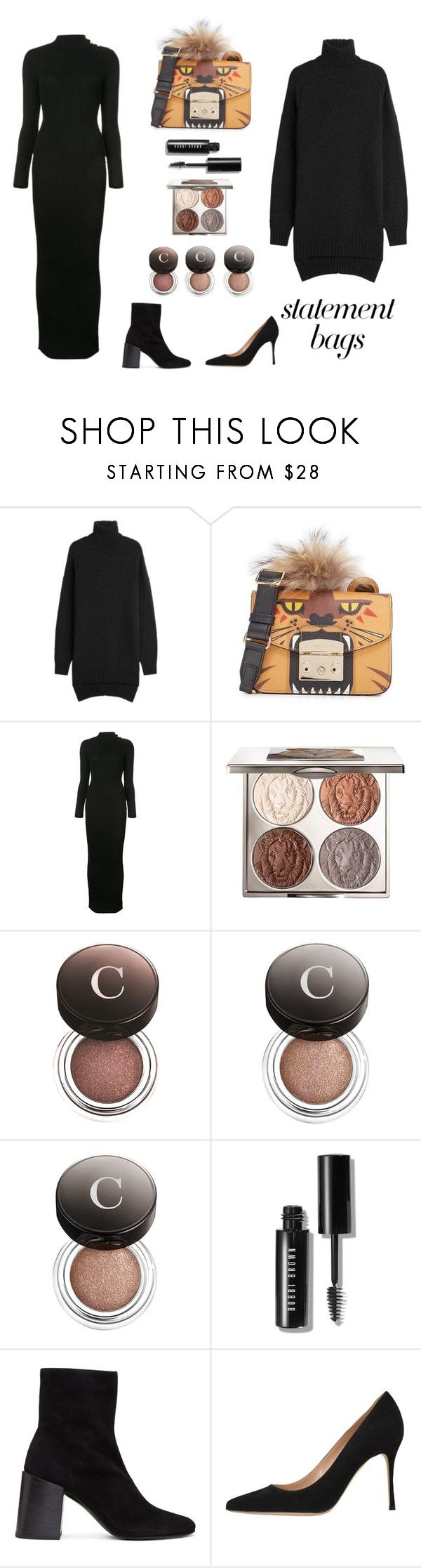 """""""slam book"""" by wednesday-williams ❤ liked on Polyvore featuring Isabel Marant, Furla, Balmain, Chantecaille, Bobbi Brown Cosmetics, Acne Studios, Sergio Rossi, StreetStyle, Fall and statementbags"""