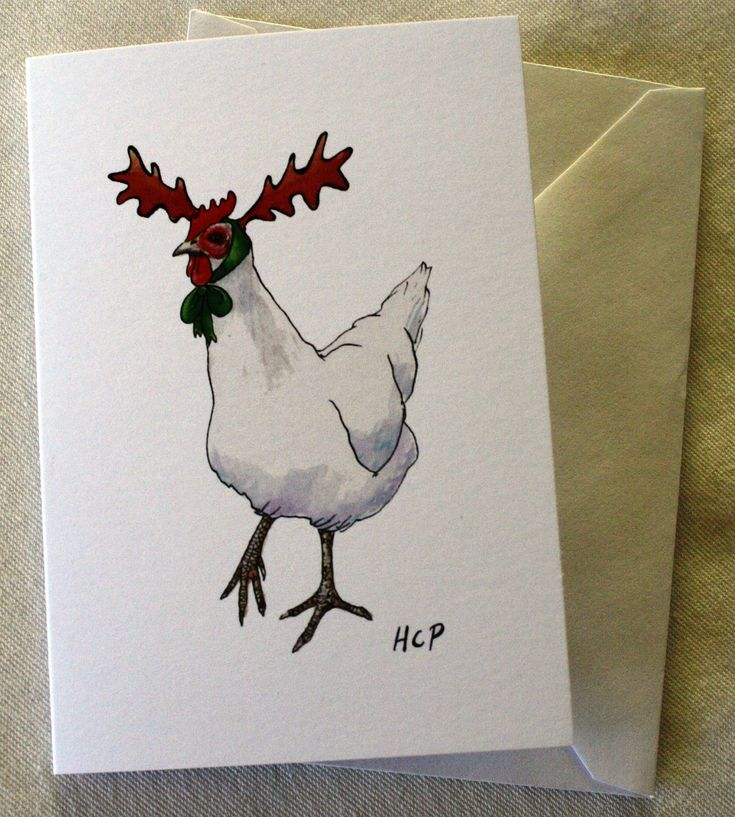 Pack of 4 Hand drawn Christmas Cards