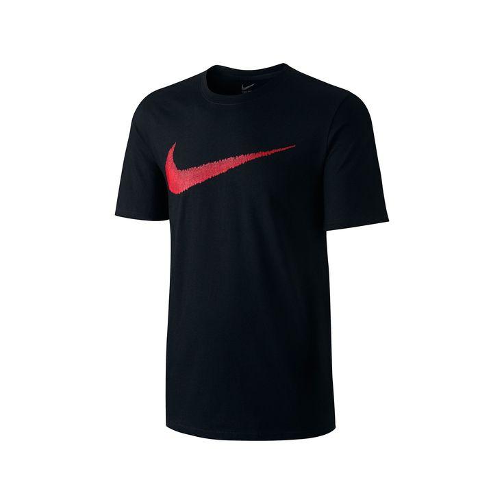 Men's Nike Swoosh Logo Tee, Size: Medium, Black