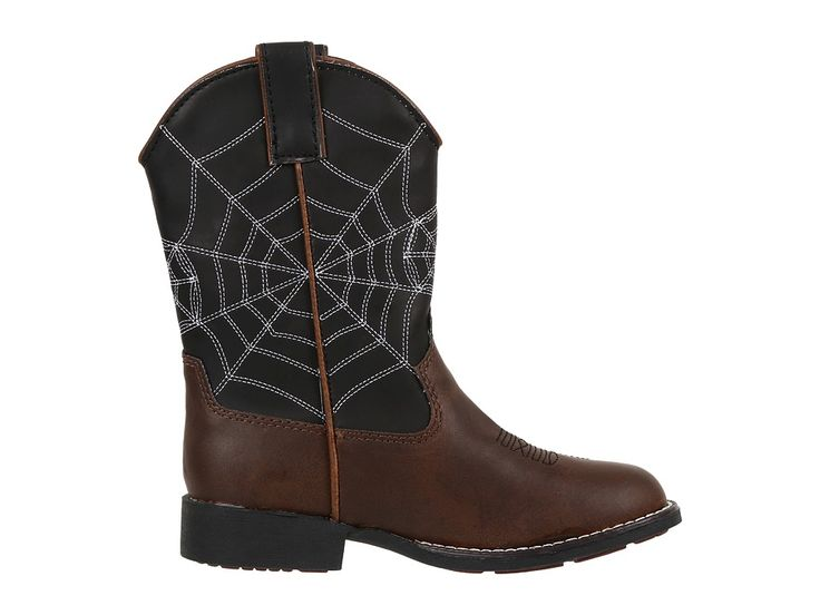 Roper Kids Spider Lighted Cowboy Boots (Toddler/Little Kid) Cowboy Boots Brown/Black