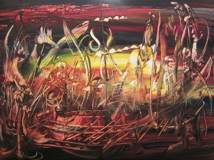 Корабль.jpg - Картина,  40.00x30.00x0.50 cm ©2013 (фамилия переводится родительным или творительным падежом - прим. перев.) Евгений Сивоплясов -                                                            Абстрактное искусство, Бумага, Абстрактное искусство,