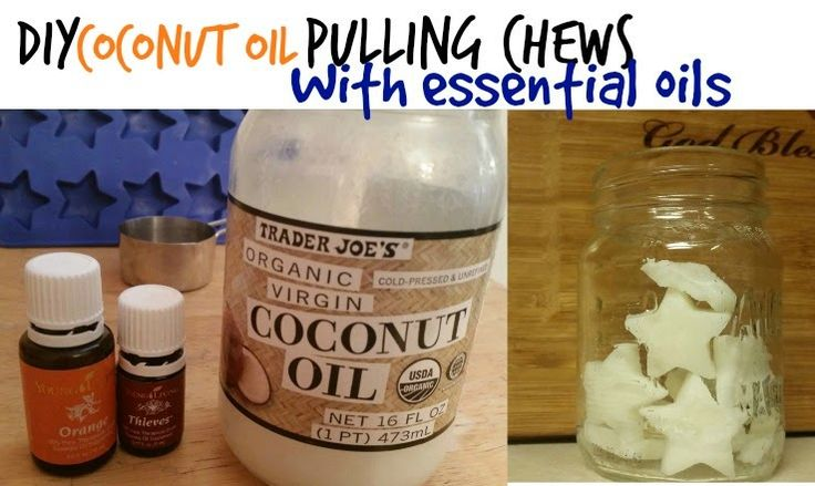 Simple DIY Oil Pulling Chews made with essential oils! Amazing! Young Living Thieves Young Living Orange oil