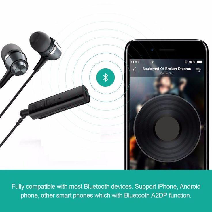 Universal Mini Wireless Bluetooth Car Kit Handsfree & Audio Receiver 3.5 mm Jack
