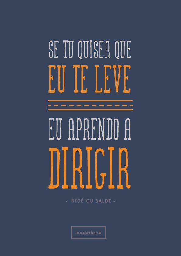 Bidê ou Balde - Melissa  Não me deixe só - Vanessa da Mata poster   musica   música   music   músicas   song   quote   trecho   frase   frases   parte   tipografia   tipography