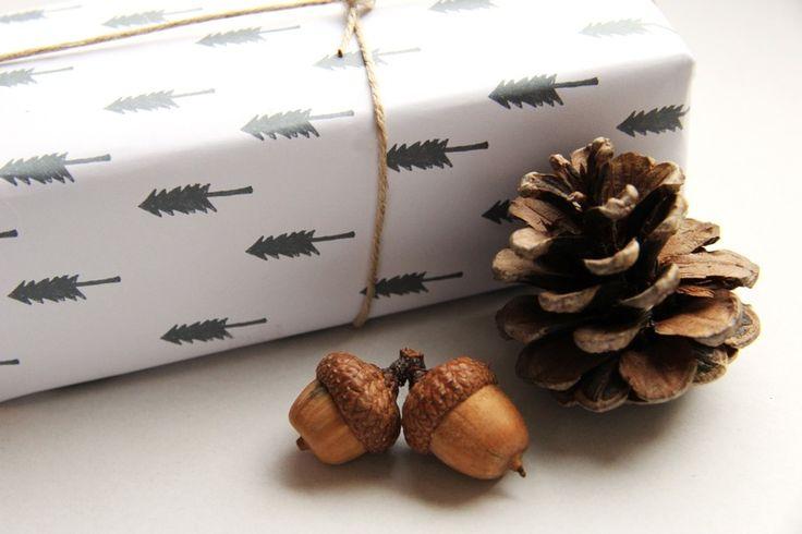 3 Geschenkpapier Bögen 'Winterwelt'' Illustration von Lottes Laden auf DaWanda.com