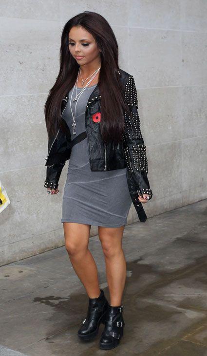 Get Little Mix singer Jesy Nelson's grey slash waist dress on the high street. Images - Sugarscape.com