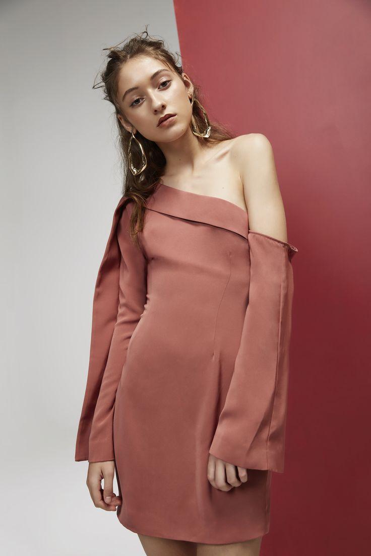 Keepsake- Overpowered Long Sleeve Mini Dress, Spice