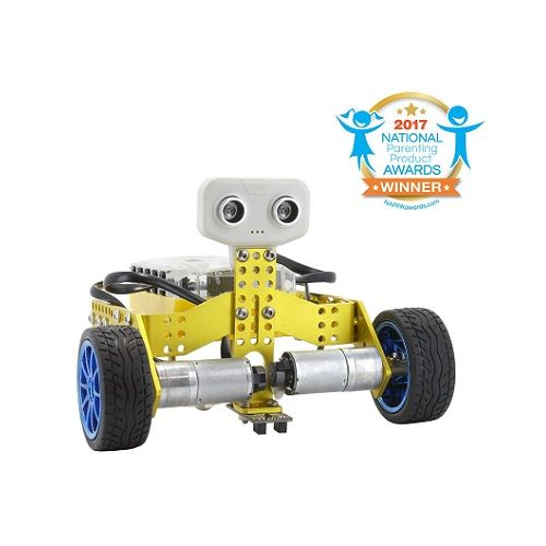 """Tomo is a 2-in-1 STEM educational robot kit that can be assembled into 2 different robots: a tricycle or a self-balancing 2-wheeled dicycle. Control, program and share via smartphones or tablets to explore the endless possibilities of robotics."""