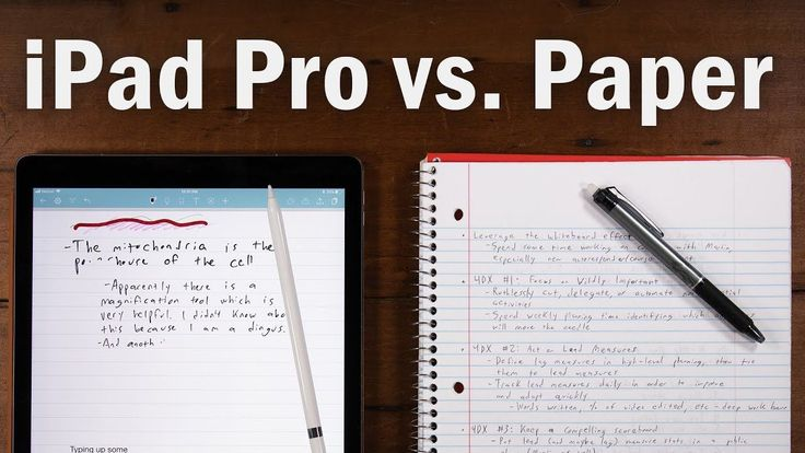 Best Note-Taking Device Ever? iPad Pro vs. Paper Notebooks ...