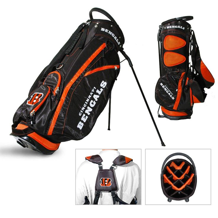 Team Cincinnati Bengals NFL Fairway Stand Golf Bag