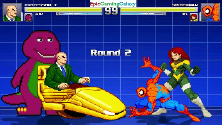 Hope And Spider-Man VS Professor X And Barney The Dinosaur In A MUGEN Match / Battle / Fight This video showcases Gameplay of Spider-Man The Superhero And Hope Summers The Superheroine VS Barney The Dinosaur From The Barney & Friends Series And Professor X The Leader Of The X-Men In A MUGEN Match / Battle / Fight