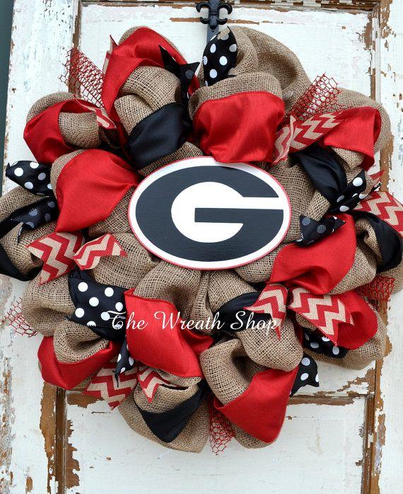University of Georgia Wreath Georgia by CreationsbySaraJane                                                                                                                                                      More