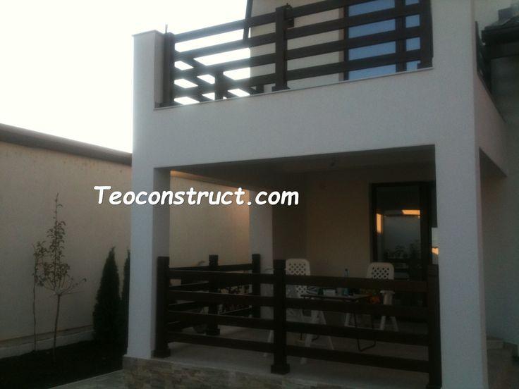 Balustrade din lemn pentru exterior  09