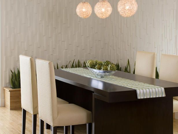 dining room features eco friendly theme: On A Budget, Dining Rooms Sets, Interiors Design, Wall Treatments, Dining Rooms Tables, Modern Retro, Texture Wall, Dining Tables, Art Wall