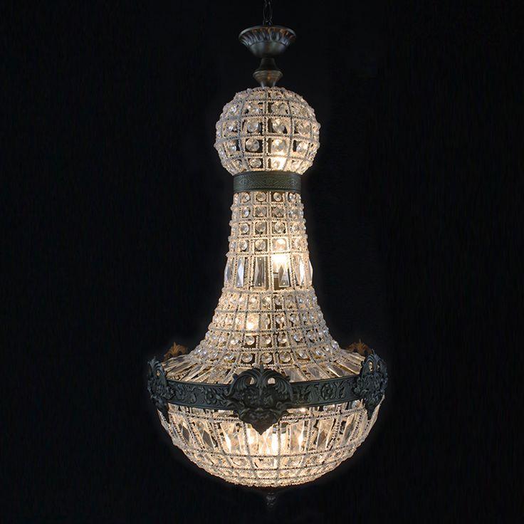 Ретро Винтаж большой круглый французского стиля империи LED E14 хрустальная люстра современный 6 огни блеск лампы для гостиной лобби купить на AliExpress