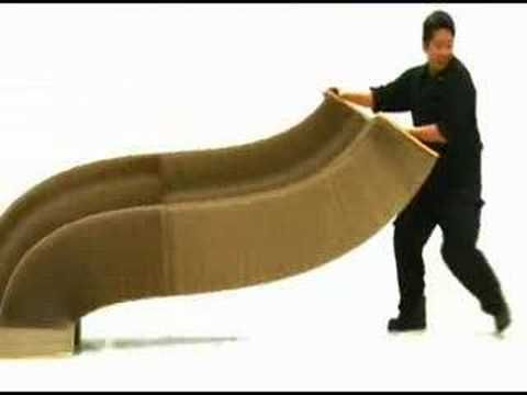 An incredible folding chair made of paper.