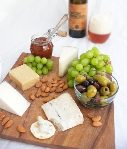 The Mediterranean Cheese Board.  Give me this with a glass of wine and dinner is done.