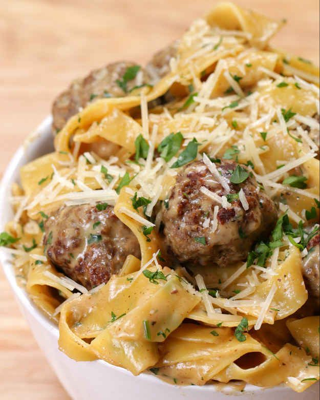 TESTED: One-Pot Swedish Meatball Pasta. Do half the Parmesan, and half the salt in the meatballs. Extra Worcestershire sauce would be good, too.  It's super easy and fast (true 30 min meal) so I would definitely make it again.