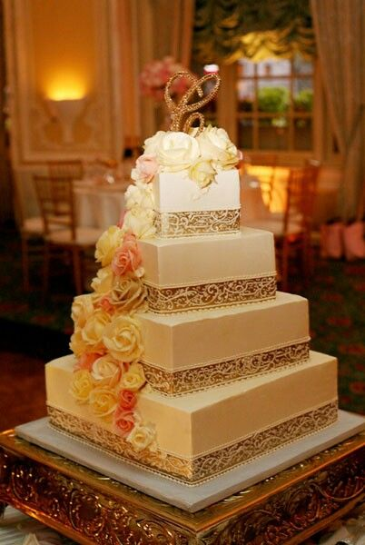 wedding cake companies beautiful wedding cake in gold tones with a gold 22222