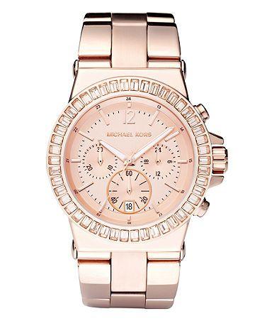 Michael Kors rose gold watch $295.00
