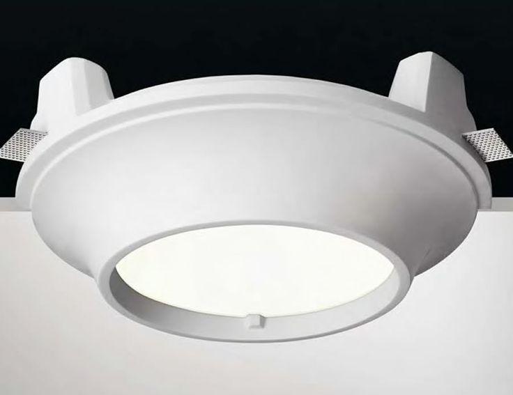 Plafón de techo de yeso tipo downlight circular #decoracion #iluminacion #interiorismo #lamparas