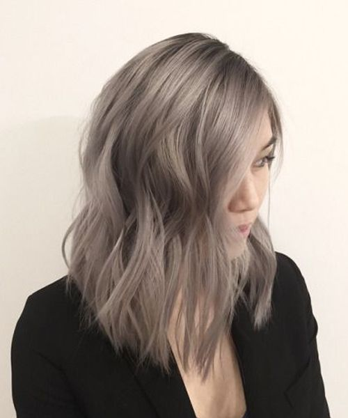 Nice Ash Brown Medium Lob Hairstyles 2019 for Women