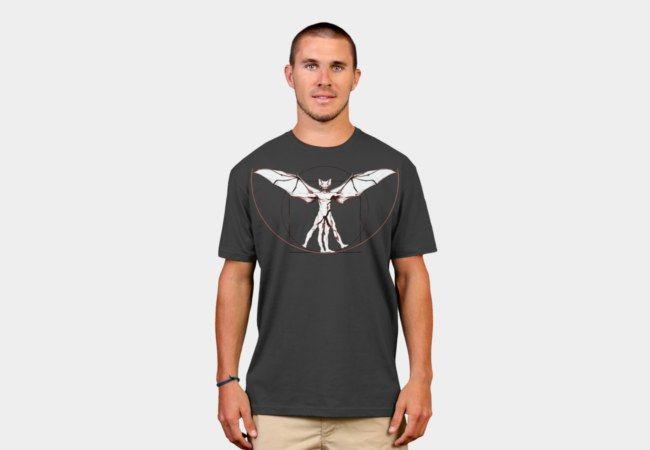 vitruvian bat man T-Shirt - Design By Humans