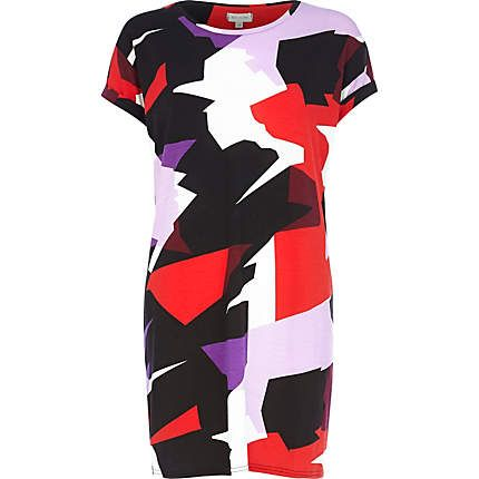 Black abstract print t-shirt dress £22.00