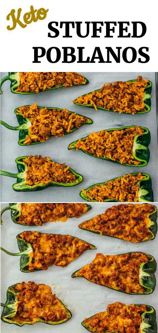 These Stuffed Poblano Peppers Are Filled With Ground Beef And Cheese They Have Delicious Mexican In 2020 Stuffed Poblano Peppers Stuffed Peppers Mexican Food Recipes