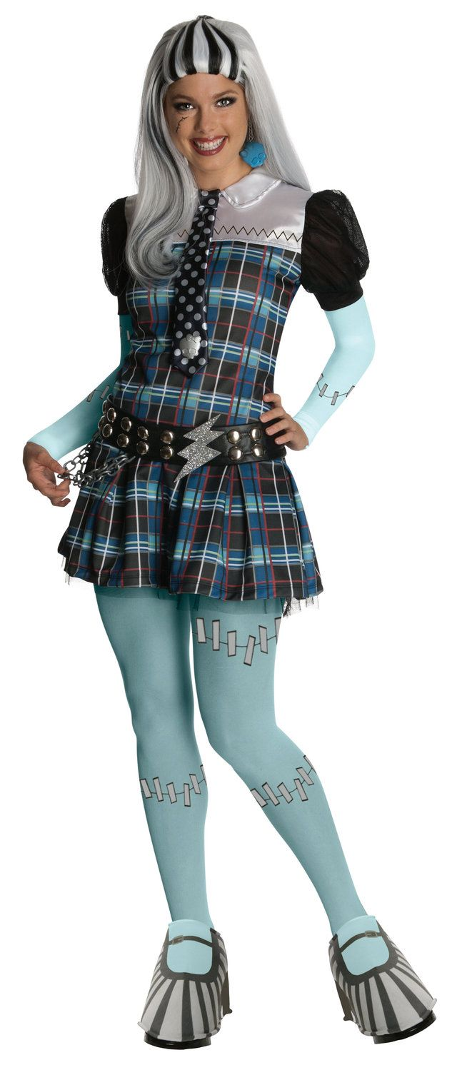Plus Size Monster High Costumes | ... Monster Costumes >> Deluxe Frankie Stein Monster High Adult Costume