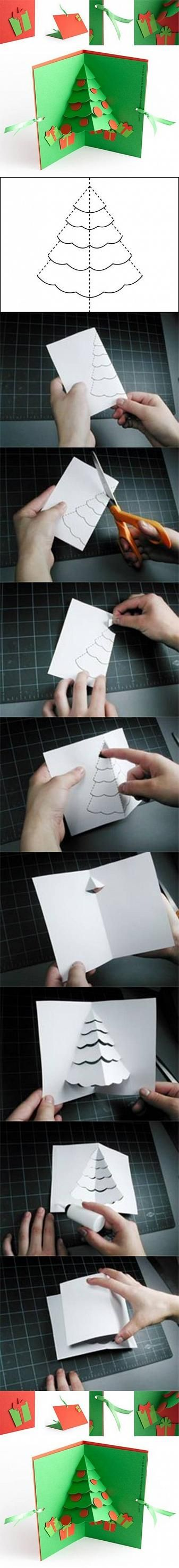 DIY Christmas Tree Pop Up Card DIY Projects | UsefulDIY.com