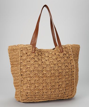 Take a look at this Brown Paper Straw Tote by Straw Studios on #zulily today!