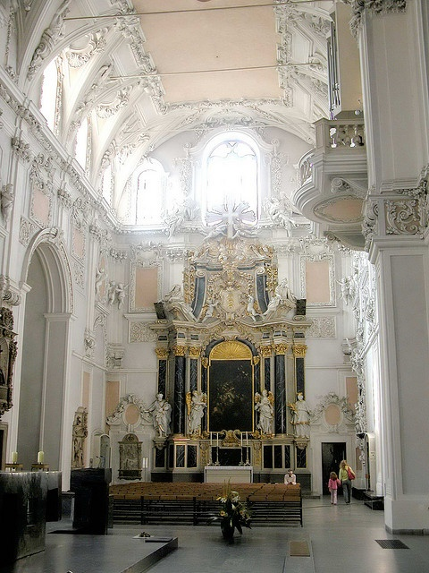 The Cathedral in Wurzburg, Germany - the lightest, brightest most radiant piece of Baroque architecture I've seen. Just a beautiful place to sit and be.