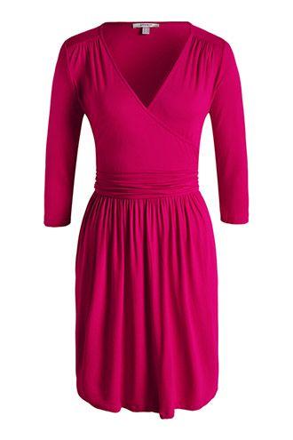 Esprit / Strečové žerzejové šaty, zavinovací efekt