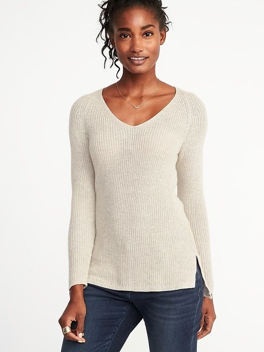 Shaker-Stitch V-Neck Sweater for Women | Old Navy