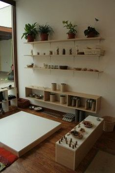Gorgeous set up in Reggio inspired room via La Casa Amarilla, Atelier Jesús María