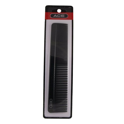 "Ace Crew Man Comb 7-1/2"" *dressing Comb * Black $0.05"