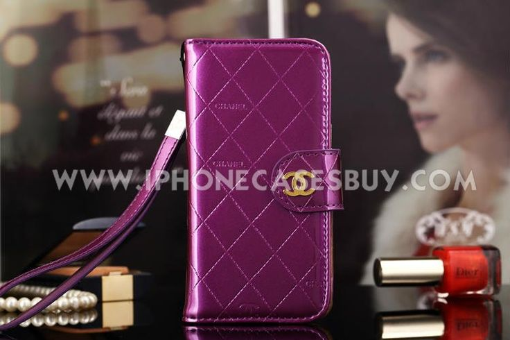chanel iphone 6 Case Designs leather Cover purple