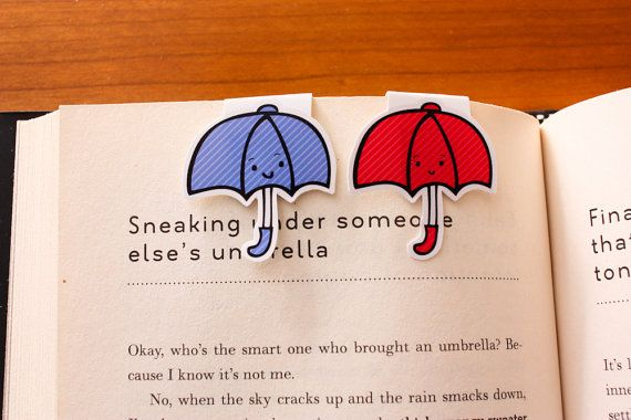 Magnetic bookmarks from Pixar's animated umbrella short!