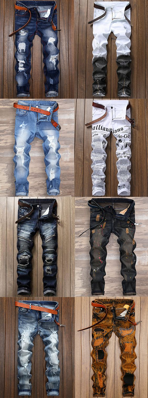 Are you looking for Jeans cheap casual style online? DressLily.com offers the latest high quality men's Jeans at great prices. Free shipping worldwide.