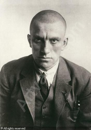 Portrait of the Russian Poet and Playwright Vladimir Mayakovsky (1893 - 1930). 1924. By Alexander Rodchenko