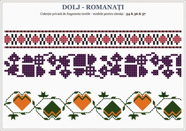 Semne Cusute: motive traditionale romanesti OLTENIA, Dolj-Romana...